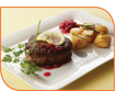 Beef fillet with pomegrante sauce